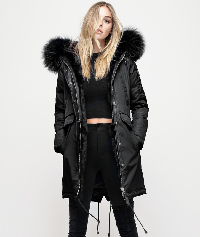 BRERA SEMI FUR LINED PARKA