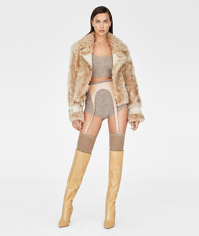 CARTER LONG HAIRED SHEARLING JACKET