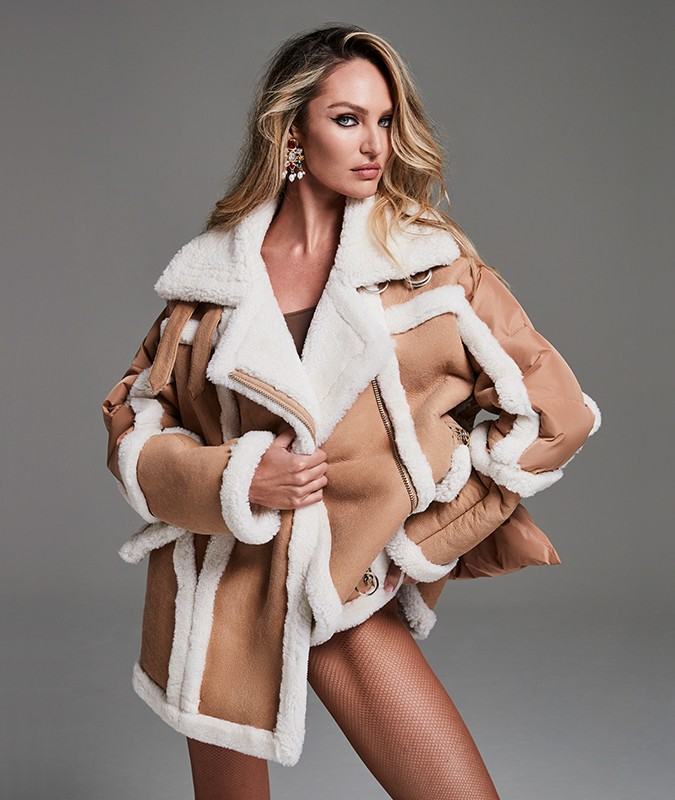 MONTAIGNE SHEARLING PUFFER JACKET